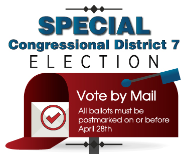 Special Congressional District 7 Election - Vote By Mail with vote centers