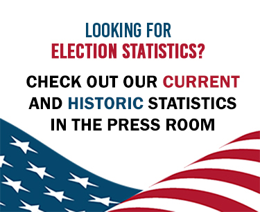 Election Data and Statistics available in our press room.